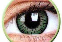 Lentile de contact colorate Elegance / www.lensa.ro - Lentile de contact colorate gama Elegance. Culori disponibile: albastre, verzi, caprui, gri, negre, gri, violet.