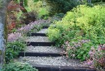 Ideas for Sloping Gardens / Inspiration for banks and gardening on a slope. Visit https://www.plantingplanner.com for a tailor-made planting plan to suit your garden's growing conditions.