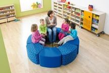 Cool Soft Cushions for Reading Areas / HABA and Gressco soft seating for children's commercial use spaces such as libraries, schools, and community areas.