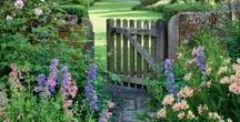 Garden Gates and Pathways / Gorgeous collection of ideas for entrances and paths around your garden.