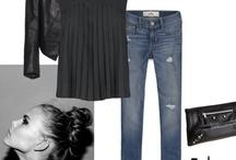 Black, grey & denim / We all love fashion