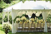 Garden Party Wedding / Garden party: verdi prati, fiori di stagione e romantiche luci sugli alberi per una cerimonia dal gusto bucolico