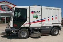 We sell STREET SWEEPING / At TCS we specialize in municipal equipment! So we also sell Street Sweepers of all makes & models! We have parts too! www.TruckCS.com
