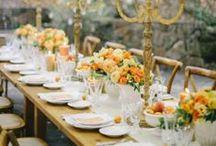Wedding in Orange / L'arancione è il colore perfetto per ogni stagione: evoca tramonti d'estate e foglie d'autunno. Diverse le proposte: da dettaglio floreale per gli invitati a semplice punto luce tra i capelli.