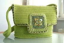 Idee per borse uncinetto / Ideas for crocheted purses, totes and bags