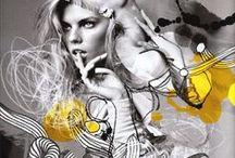 ilustracje modowe / fashion illustration / Artystyczne ilustracje modowe.   Artistic fashion illustrations.