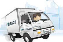 Sebastian Squarehead / Take a look at the illustrations of Sebastian Squarehead, the Fastcubes Mascot.