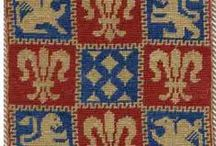 "Jacquard: ""Medioevo e Rinascimento"" / Charts for tapestry crochet: ""Middle Ages & Renaissance"""