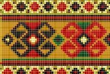"Jacquard: ""Etnici ed Esotici"" / Tapestry crochet charts: ""Ethnic and Exotic motifs"""