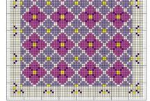 "Jacquard: ""Piante e fiori"" / Tapestry crochet charts: ""Plants and flowers"""