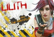"""VIDEO GAME Cosplay: Lilith the Siren aka The Firehawk (Borderlands) / Lilith, the Siren aka The Firehawk is a Siren, one of six women in the universe that are born with mystical powers and recognized by various tattoos on their body. Lilith is wanted by Atlas for """"conspiracy, witchcraft, theft, and murder"""", and her main motive for traveling to Pandora is to learn more about her Siren powers. / by Joseph North"""