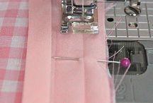 Sying / Sewing / Tips om sying og fremgangsmåter.