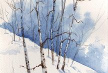 Akvareller / Watercolor / Fine og inspirerende akvareller.