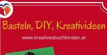 Basteln, DIY, Kreativideen / DIY - Alles was geht wird selbst gemacht - Geschenke, Dekoration, Kleinigkeiten, Mitbringsel, ... Bitte nur EIN Pin pro Bastel-Idee. Danke!  Wenn du gerne mitpinnen möchtest bei den Themen Basteln, Bastelanleitungen, Deko, DIY und Kreativideen schreib mich gerne auf Pinterest oder unter office@kreativesbuchbinden.at an. Ich freu' mich, wenn du dabei bist!
