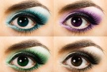 Big EYES scream or big ICESCREAM? / Make-up for eyes and lips hair do