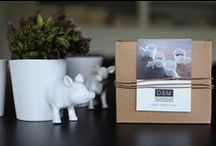 Presents / Lash out at your customers with our original presents  MOONY: handmade T-lights, packed by 3 in a gift box BUDDY: 4 funny mugs with animals NECKLACE: a necklace for every occasion POTTINA & POTTONE available in 2 formats, in beautiful packing material KAROO: indoor & outdoor green wall
