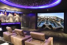 Home Theater Havens / Home theater inspiration here! Turn your home into your own personalized home theater with amazing audio and video products from Home Controls. We offer some of the industry's best home theater and whole home audio distribution systems, from top manufacturers like NuVo, M&S Systems, Channel Vision, NuTone and more. www.homecontrols.com / by Home Controls