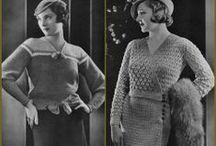 Vintage knitting crochet Patterns