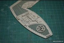 """Spaceship Lightwing from scratch / The """"Lightwing"""" Spaceship - a scratchbuilding project (own design) still in progress"""