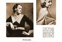 Vintage knitting crochet Styles 30s
