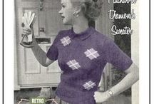 Vintage knitting crochet 50s