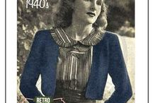 Vintage knitting crochet 40s