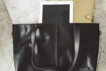 Leather Tote. / Photos of our leather tote bag (available in any colour) sent in by our customers :)