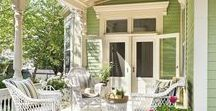 Porch / Ideas and inspiration to decorate your porch, including cottage and farmhouse porches