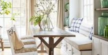 Dining Room / Decorating ideas and inspiration to turn your dining room into a cozy family space