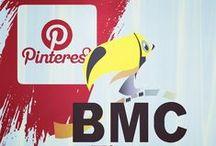 Mídias Sociais / A logo da BMC Tintas dividida em suas contas e páginas nas mídias sociais.