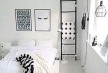 Zwart-Wit Slaapkamer / Voor iedereen die dol is op een zwart-wit interieur! Zwart-wit accessoires, prints, dekbedovertrekken, kussens en meer ...