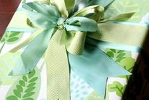 Wrapping Inspiration / We are always looking for beautiful ideas and inspiration for unique ways to wrap gifts year around and for holidays!   We would love to see your creative ideas using our wrapping paper and accessories - be sure to tag us #InnisbrookWraps!