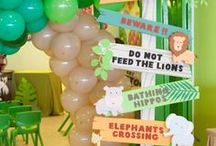 Jungle Themed Parties / We've found some great ideas and inspiration for your next jungle themed party, great for all ages! Shop Innisbrook.com for wrapping paper, gift bags, tissue paper and much more!