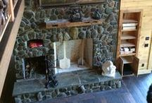 Fireplaces / Fireplaces of all types, sizes and finishes are a staple of log homes.