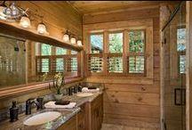 Bathrooms / A collection of various log home bathroom ideas.