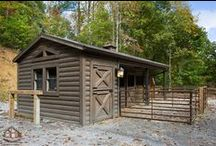 Outdoor Log Home Living / Log home lovers also love the outdoors.  The natural rustic nature of log homes go well with outdoor living space.