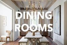 Spaces (Dining Rooms) / We love a good place setting and formal dining room-here are our favorites!