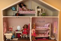 Family- DIY Dollhouse, Accessories, Sewing & More / My son and I are re-purposing an old entertainment center into an American Girl Dollhouse for my daughter for Christmas this year. This board has pins of ideas that I want to use in making this vision a reality!