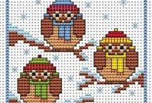 Cross stitch winter / borduren winter / by Natasja Den Blaauwen