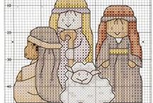Cross stitch x-mas / borduren kerst / by Natasja Den Blaauwen