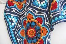 Crochet blanket / gehaakte deken / by Natasja Den Blaauwen