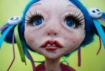 Art dolls / OOAK Art Dolls made of polymer and air drying clays.