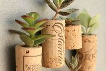 Wine DIY / Find something useful - or at least crafty - to do with all of those corks, wine glasses and wine bottles!