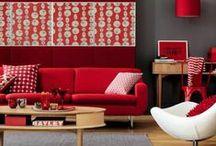 Déco Rouge   INSPIRATION / Retrouvez plus d'idées de déco sur www.maison-facile.com ! #red #rouge #homedecor #furniture #deco