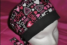 Calicomaisey's Pixie Scrub Caps / A tie-back pixie bonnet is made for shoulder-length or shorter hairstyles, but girls with long hair have worn them also, by putting their hair in a ponytail.See store for full details.