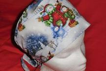 Christmas Seasonal Pixies / A tie-back pixie bonnet is made for shoulder-length or shorter hairstyles, but girls with long hair have worn them also, by putting their hair in a ponytail. They work well for chemo patients with little or no hair. I am a cancer recovery patient and I wear my own caps.