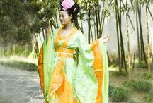 Asian traditional Dress / Vietnamese Dress, Chineese #Hanfu (traditional Chinese dress), #CostumeDesign from Movies and every day wear. (Korean Hanbok and Japanese Kimono are on separate boards)