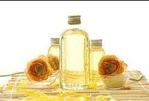 Oli cosmetici puri / Oli vegetali, cosmetici naturali per la cura della pelle, dei capelli e il benessere.