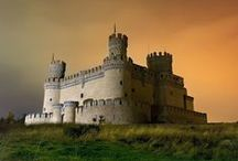 Castles / A castle (from Latin: castellum) is a type of fortified structure built in Europe and the Middle East during the Middle Ages by nobility. Scholars debate the scope of the word castle, but usually consider it to be the private fortified residence of a lord or noble.