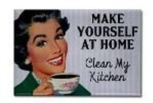 Retro Fridge Magnets / I combine vintage advertising images from the 1940s and 1950s with smartass commentary to create these funny retro fridge magnets.
